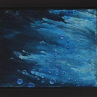 "Deep Blue - 21""x24"" framed - $420"