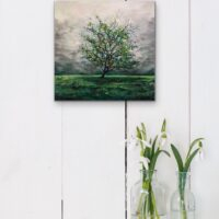 "Stone House Apple Tree - 12""x12"" - $145"