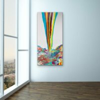 "Rainbow Splash - 48""x24"" - $1,150"