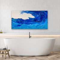"Waves of Blue - 24""x48"" - $1,150"