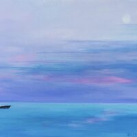 "Moon over Lake Ontario - 12""x16"" - $190"